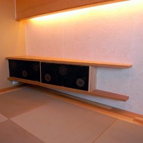 江東区 マンション改修家具工事/和室飾り棚、下足入れ